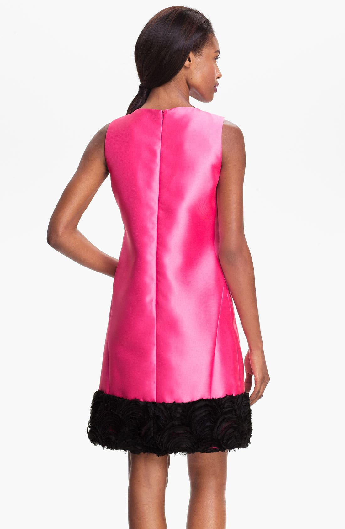 Alternate Image 2  - Tahari Raw Edge Hem Woven Shift Dress