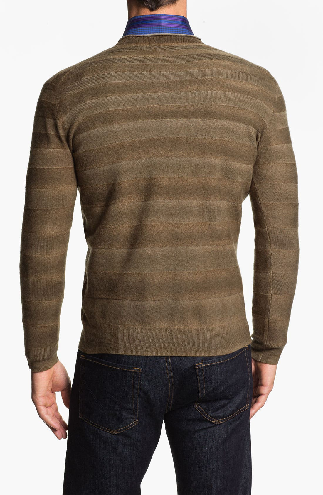 Alternate Image 2  - Bugatchi Uomo V-Neck Merino Wool Sweater