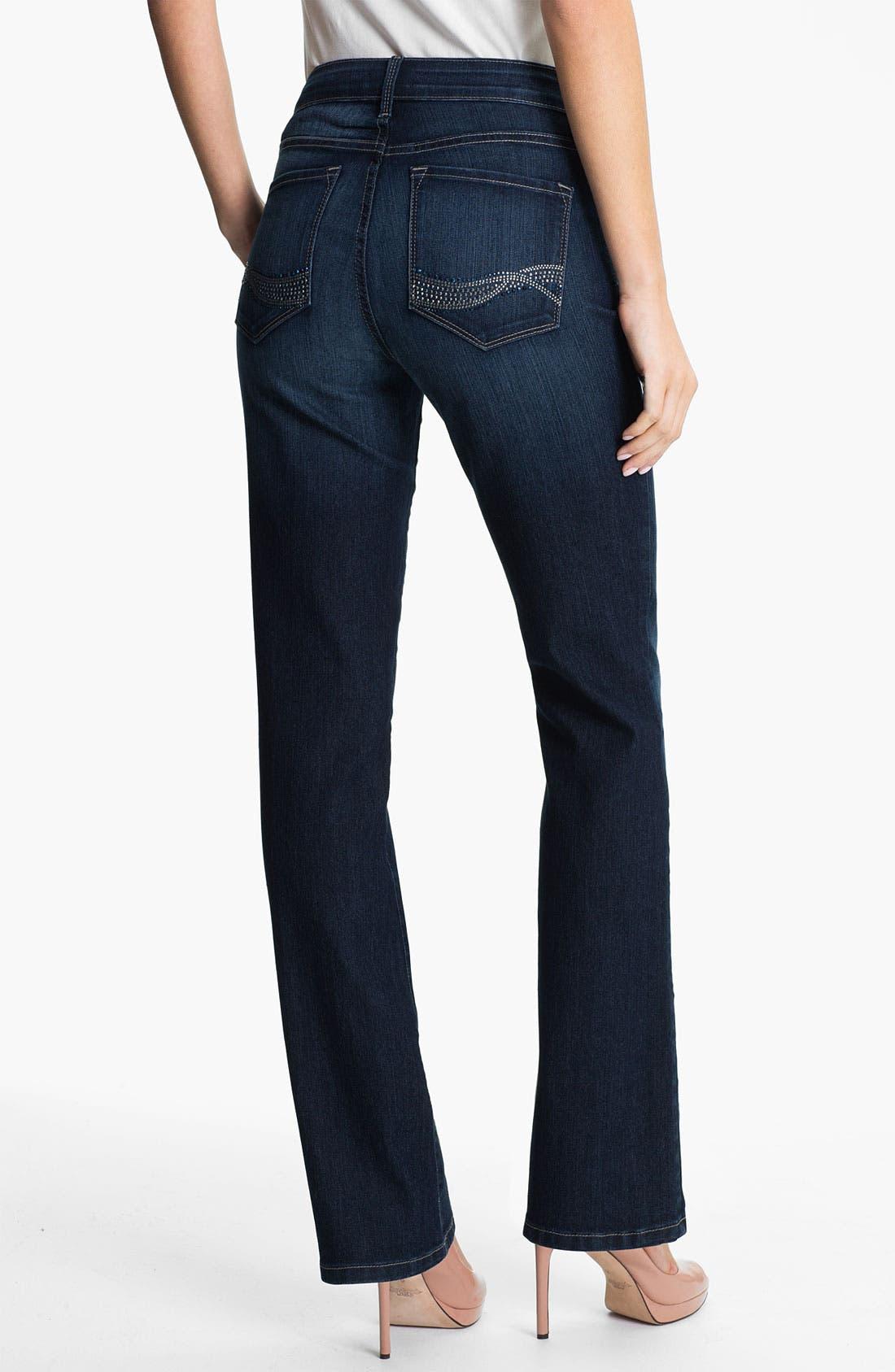 Alternate Image 2  - NYDJ 'Barbara' Embellished Stretch Bootcut Jeans