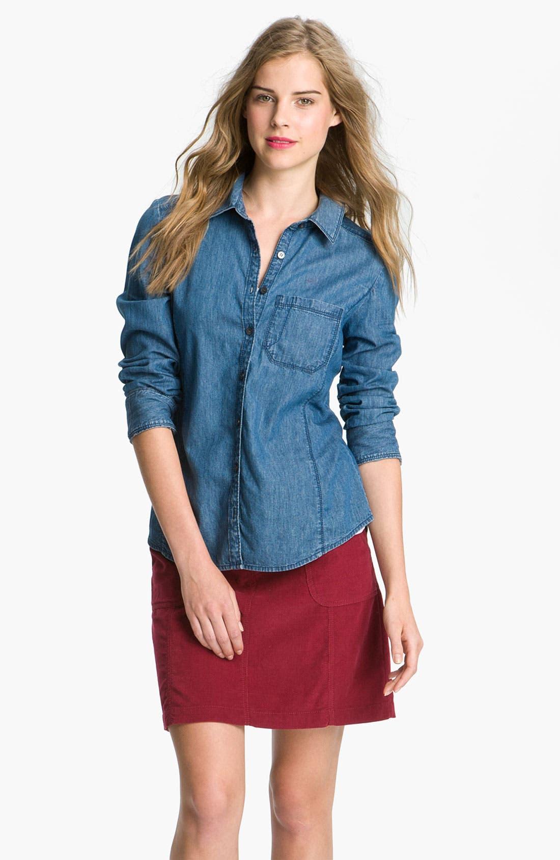 Alternate Image 1 Selected - Caslon® Long Sleeve Shirt (Petite)