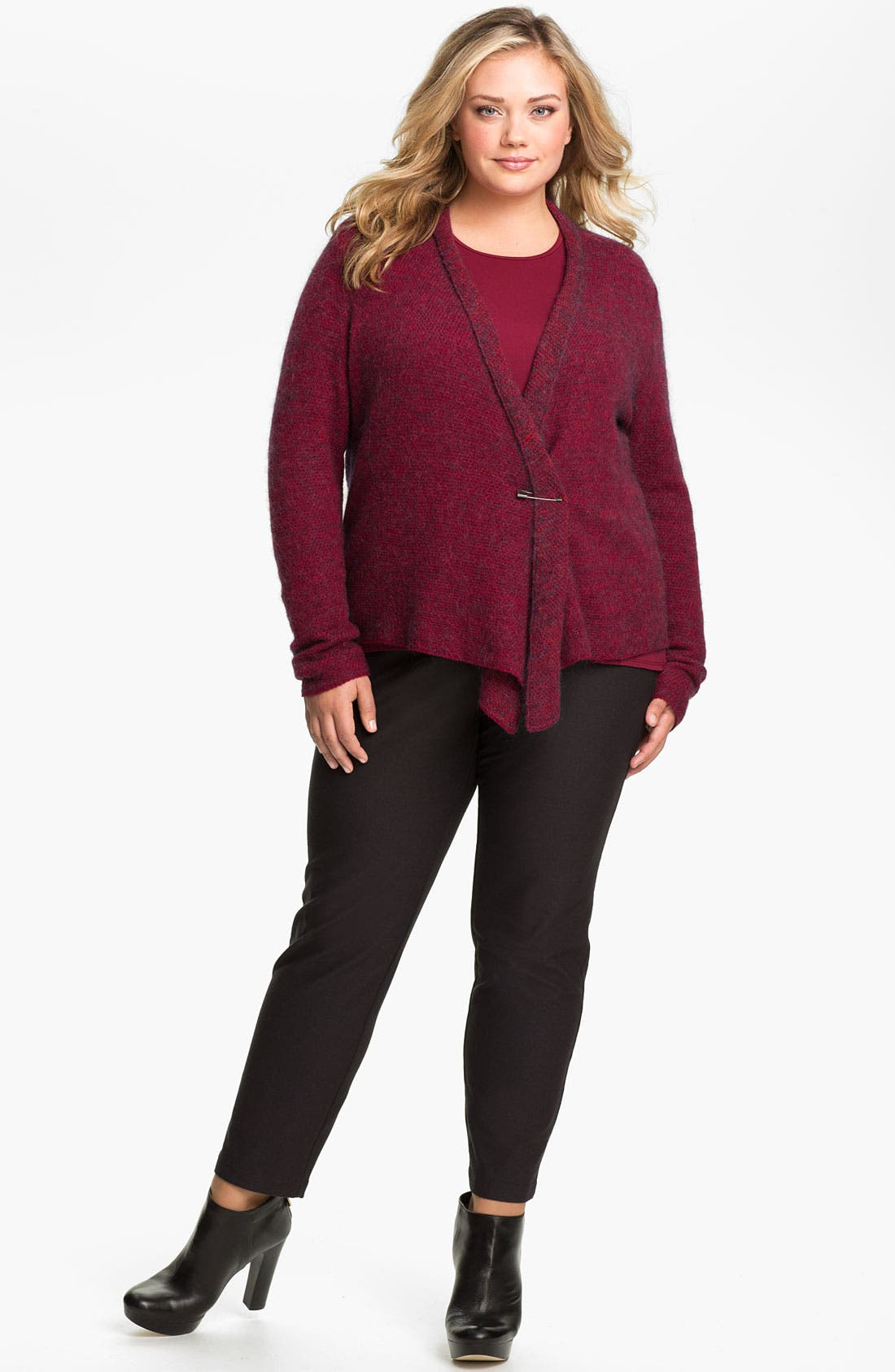 Alternate Image 3  - Eileen Fisher Slim Ankle Pants (Plus Size)