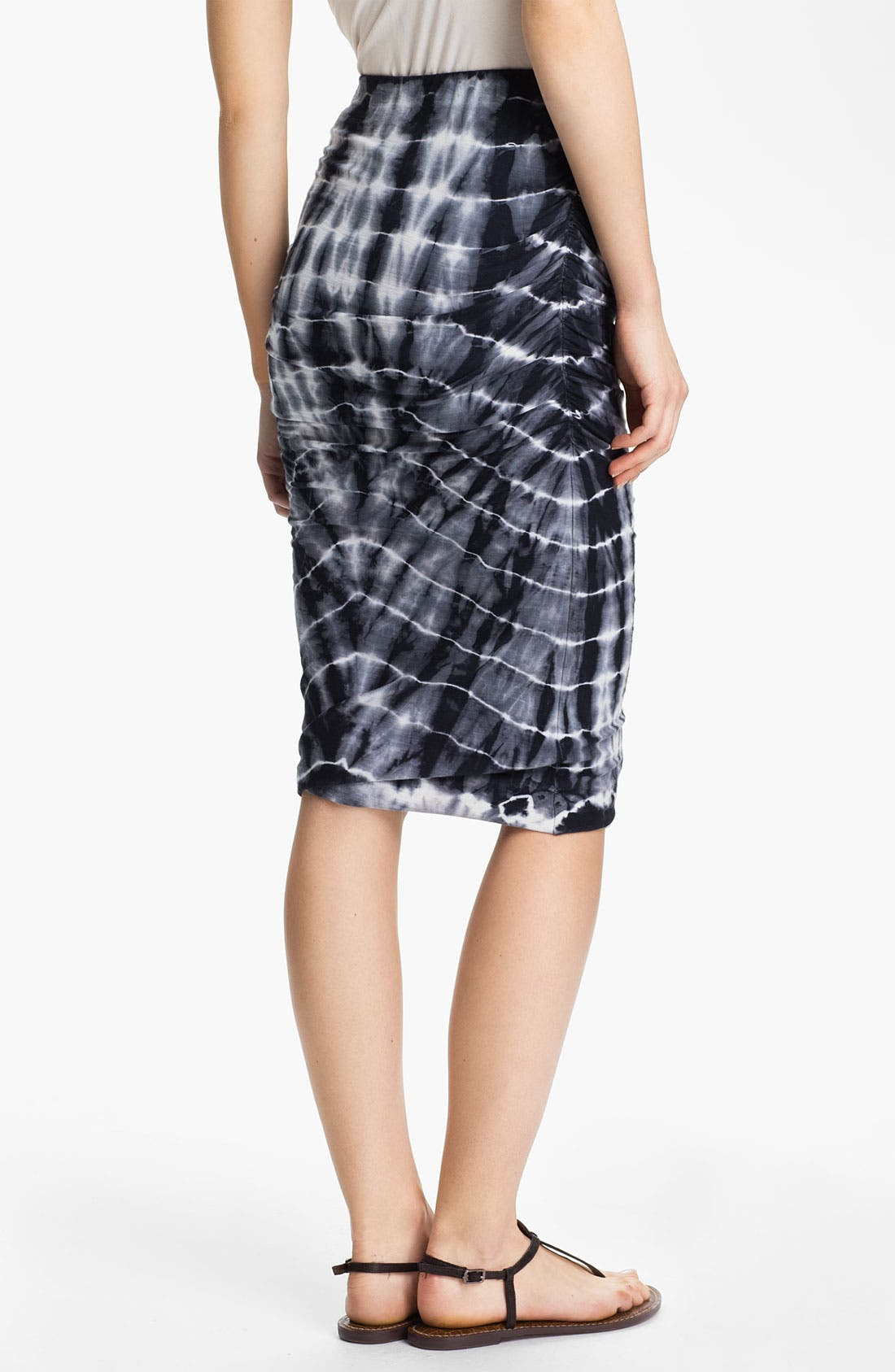 Alternate Image 2  - James Perse Tie Dye Ruched Pencil Skirt