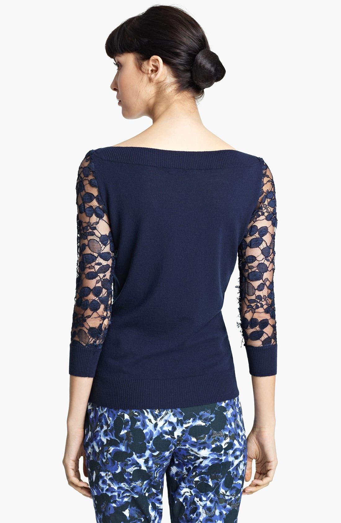 Alternate Image 2  - Erdem Lace Sleeve Knit Top