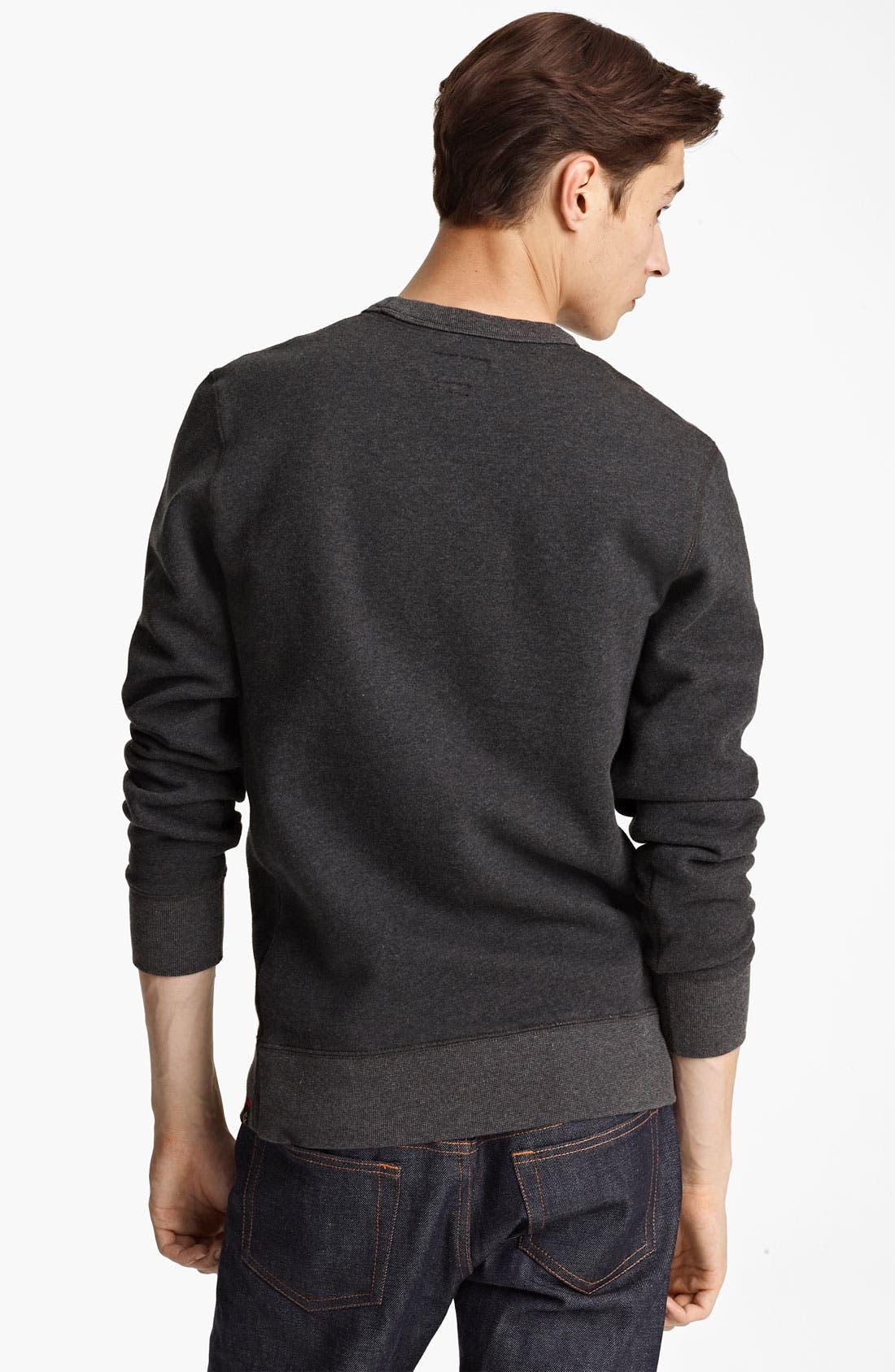 Alternate Image 2  - Grayers Crewneck Fleece Sweatshirt