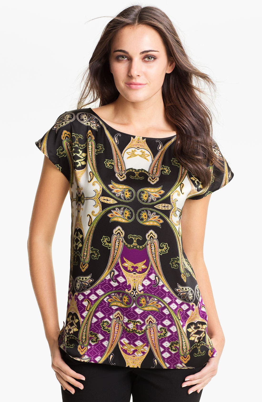Alternate Image 1 Selected - Vince Camuto Ornate Paisley Blouse