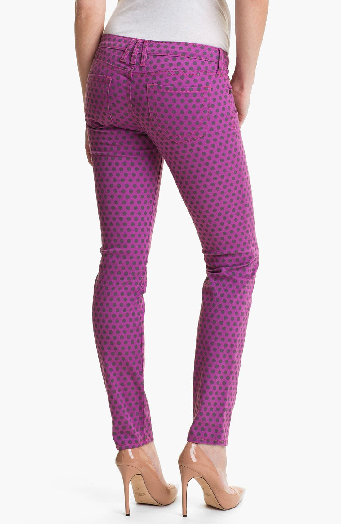 Alternate Image 2  - KUT from the Kloth 'Diana' Polka Dot Skinny Jeans