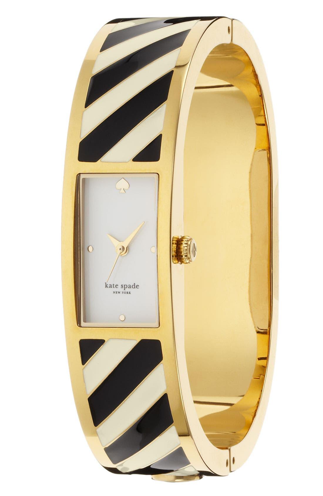 Alternate Image 1 Selected - kate spade new york 'carousel' stripe bangle watch