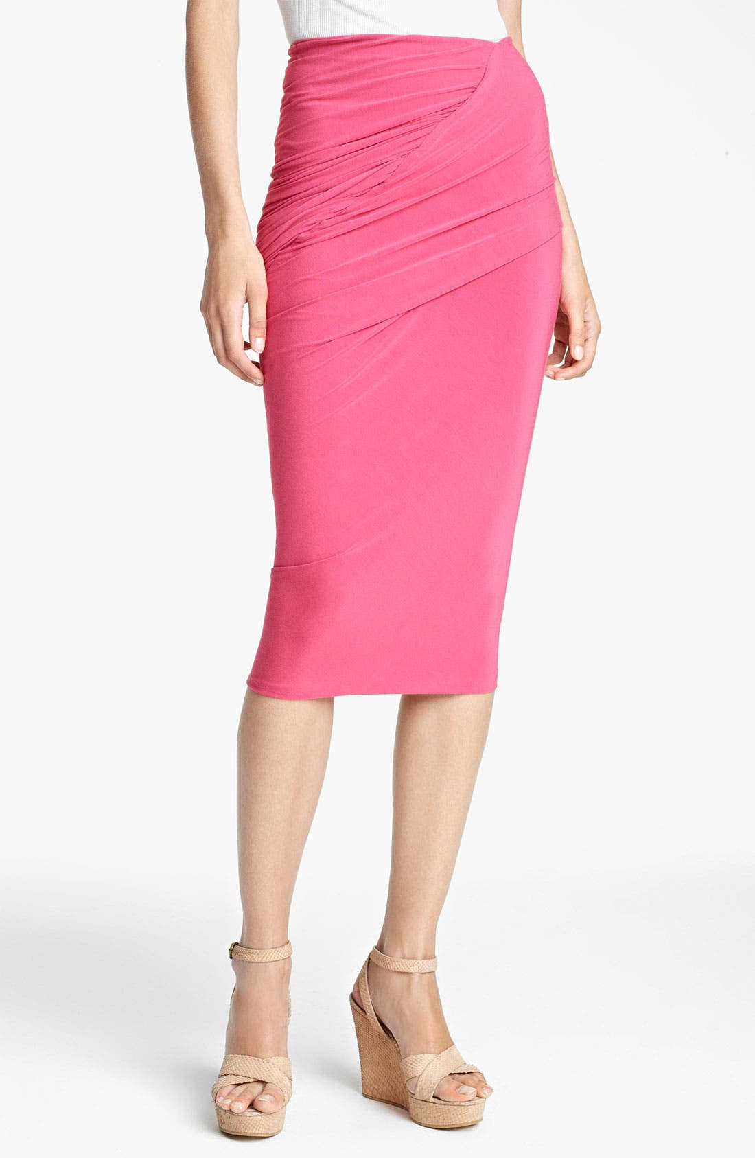 Main Image - Donna Karan Collection Draped Jersey Skirt