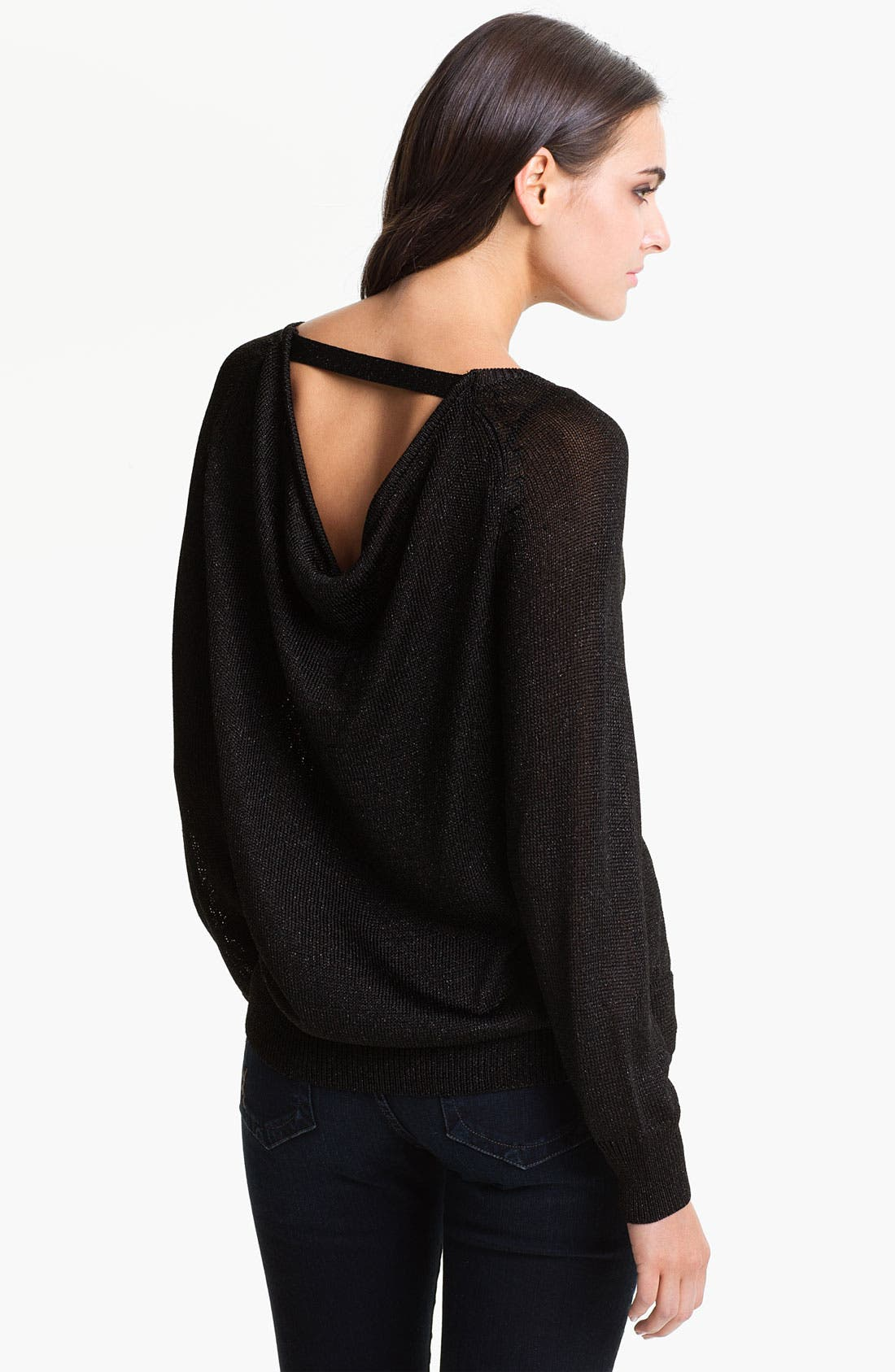 Alternate Image 1 Selected - Vince Camuto V-Back Metallic Sweater