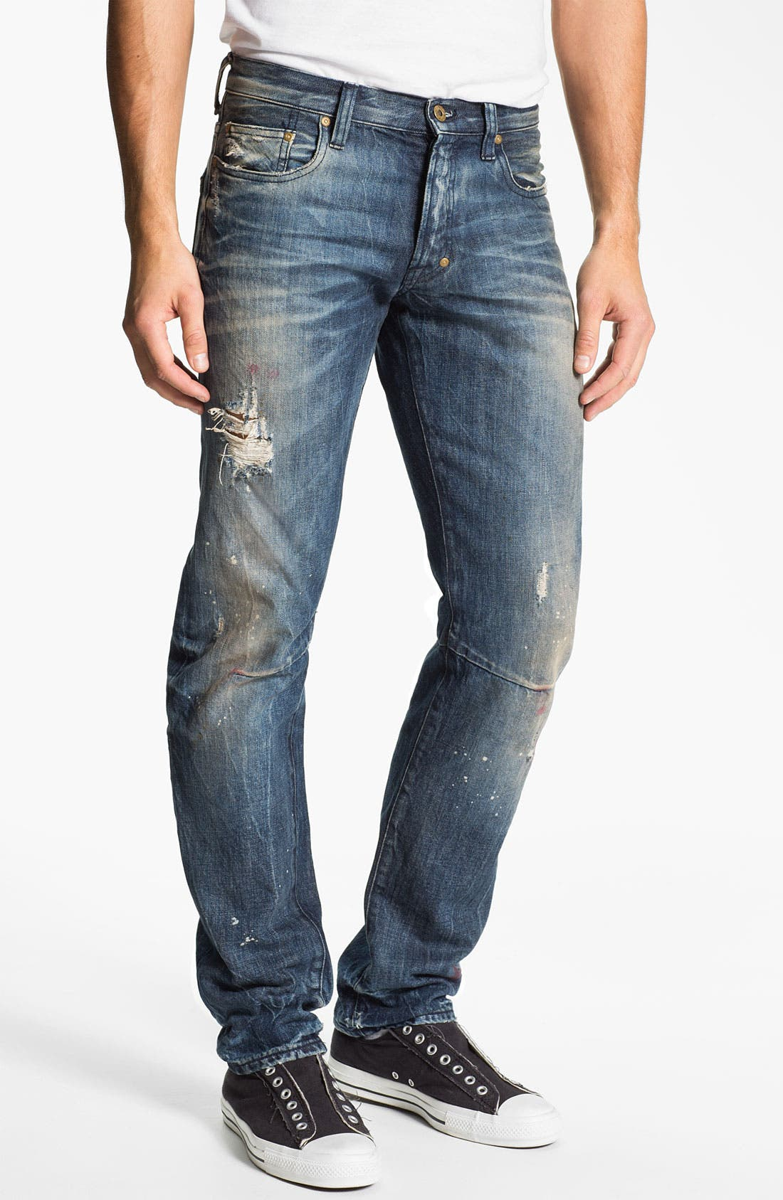 Alternate Image 2  - PRPS 'Tibetan Ladder Rambler' Slim Straight Leg Jeans (Indigo)