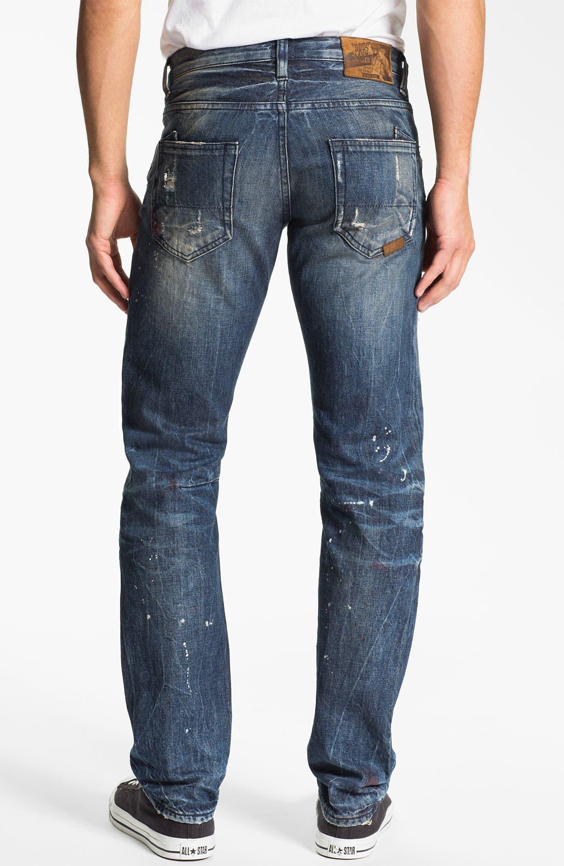 Main Image - PRPS 'Tibetan Ladder Rambler' Slim Straight Leg Jeans (Indigo)