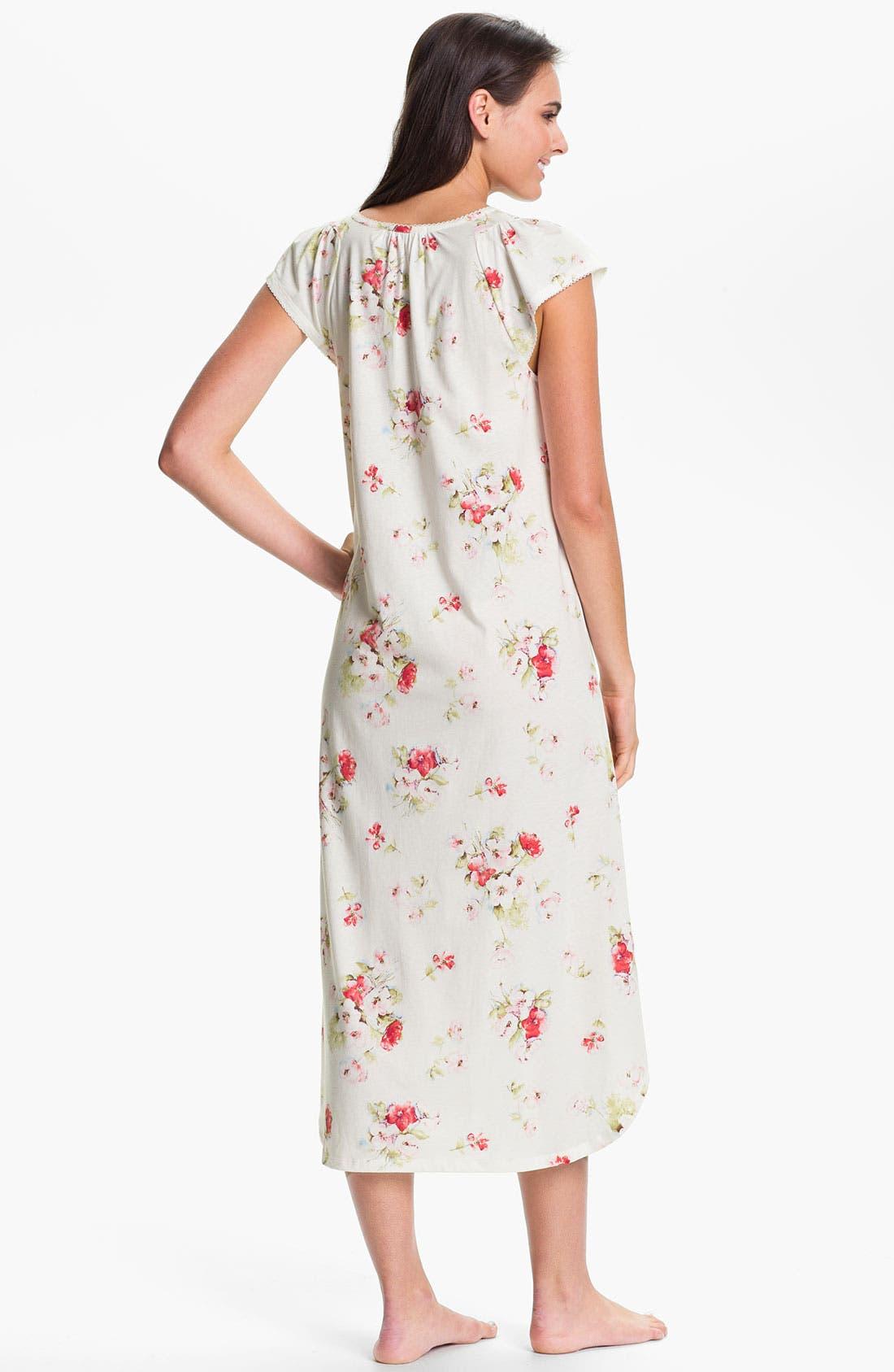 Alternate Image 2  - Carole Hochman Designs 'Roseberry Amaryllis' Nightgown