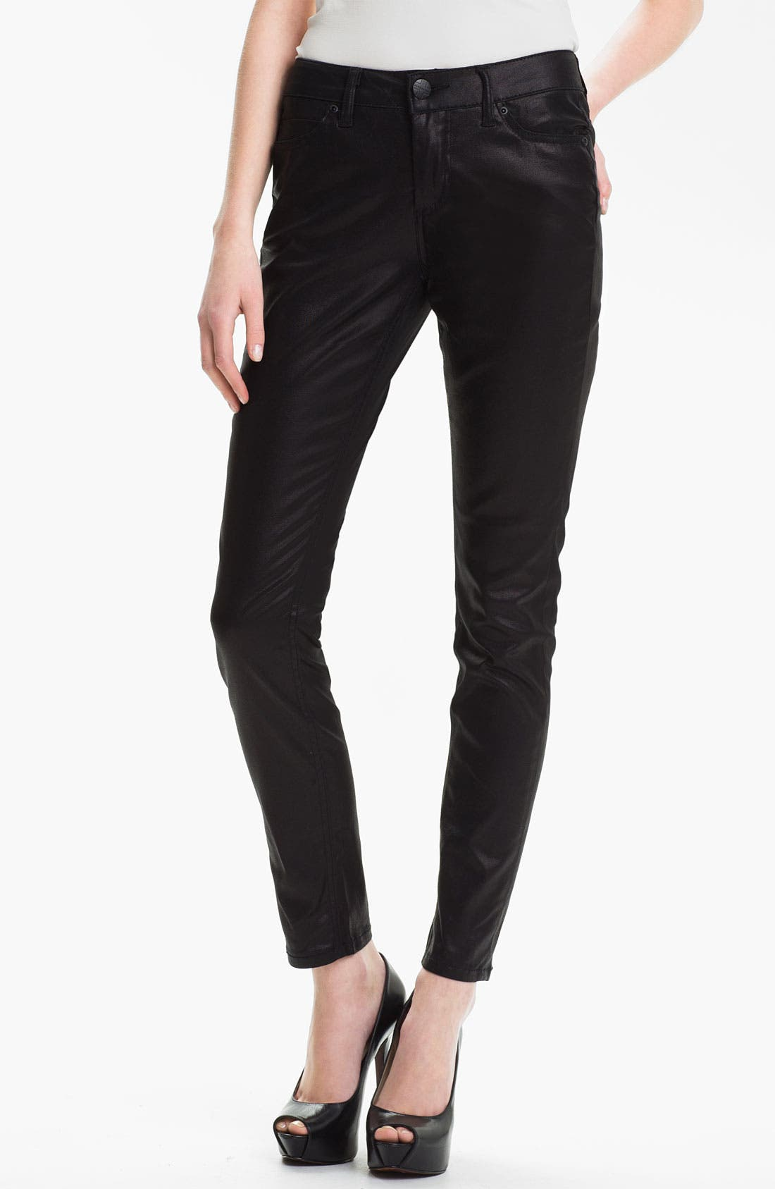 Alternate Image 1 Selected - Liverpool Jeans Company 'Abby' Coated Skinny Jeans (Petite) (Online Only)