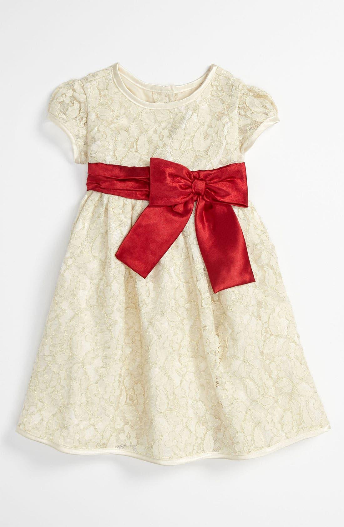 Alternate Image 1 Selected - Sweet Heart Rose Lace Dress (Toddler)