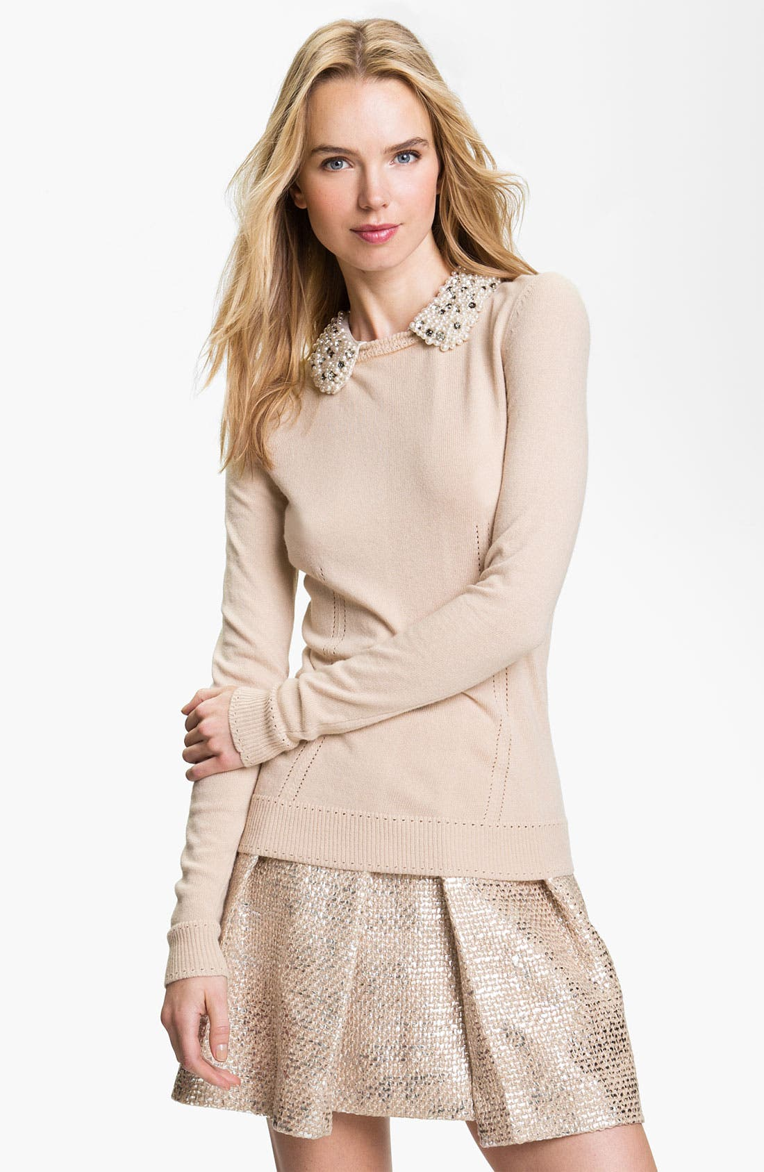 Alternate Image 1 Selected - Milly Embellished Sweater