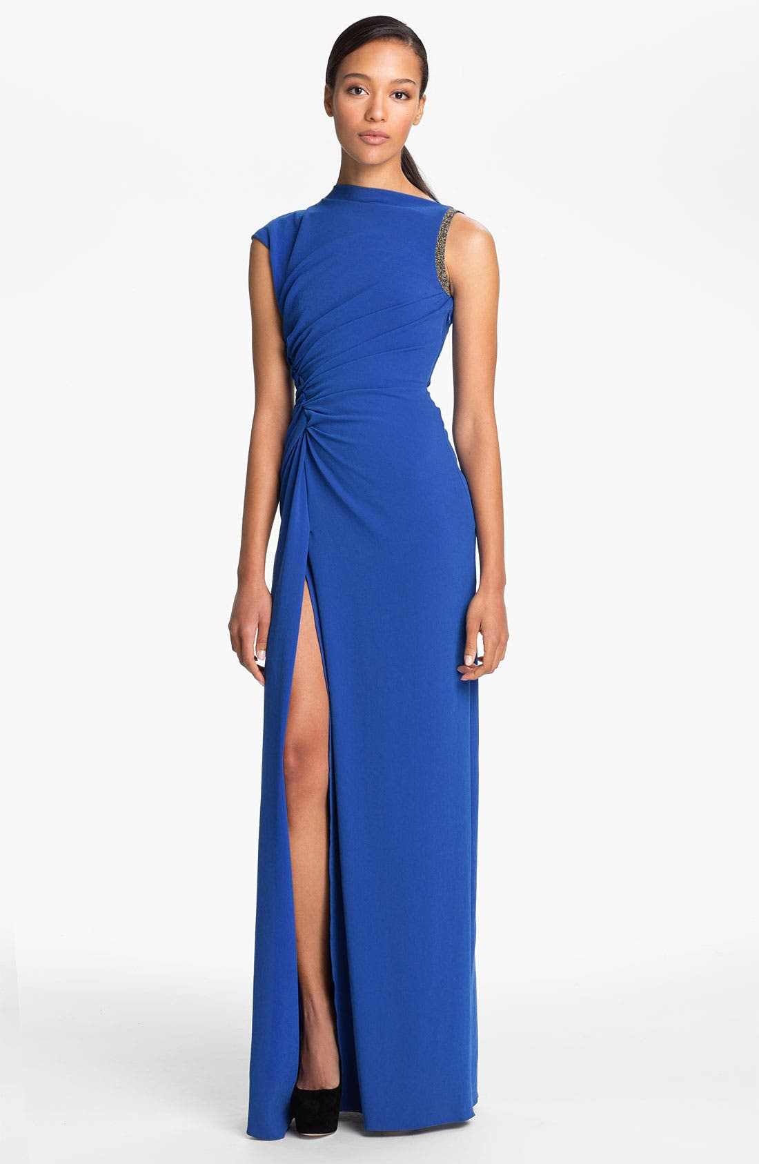 Main Image - Halston Heritage Ruched Waist Gown