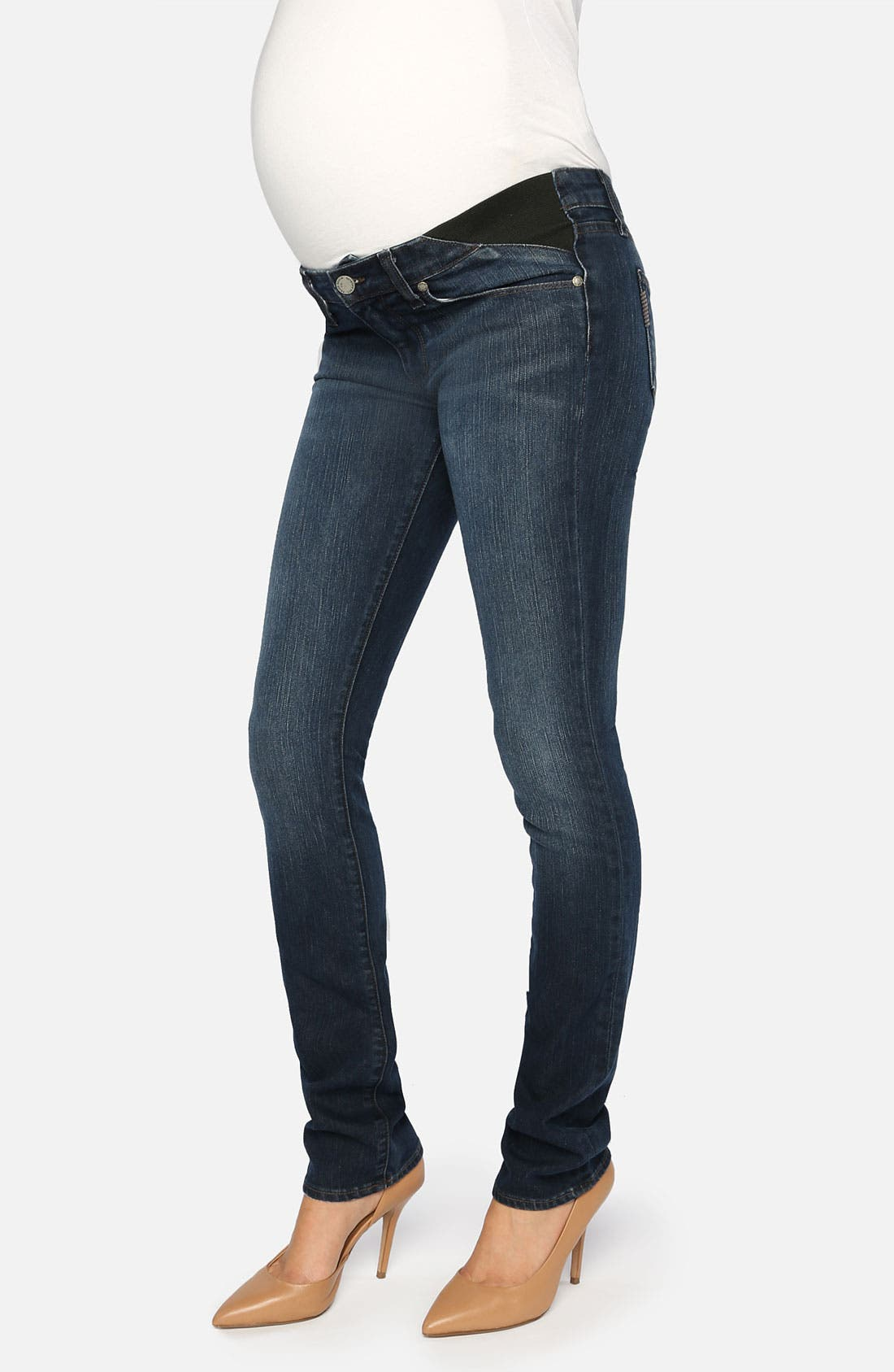 Main Image - Paige Denim 'Union Skyline' Skinny Leg Maternity Jeans (Amethyst)