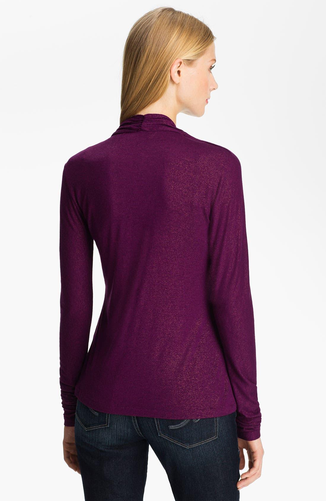 Alternate Image 2  - Anne Klein V-Neck Pullover (Petite)