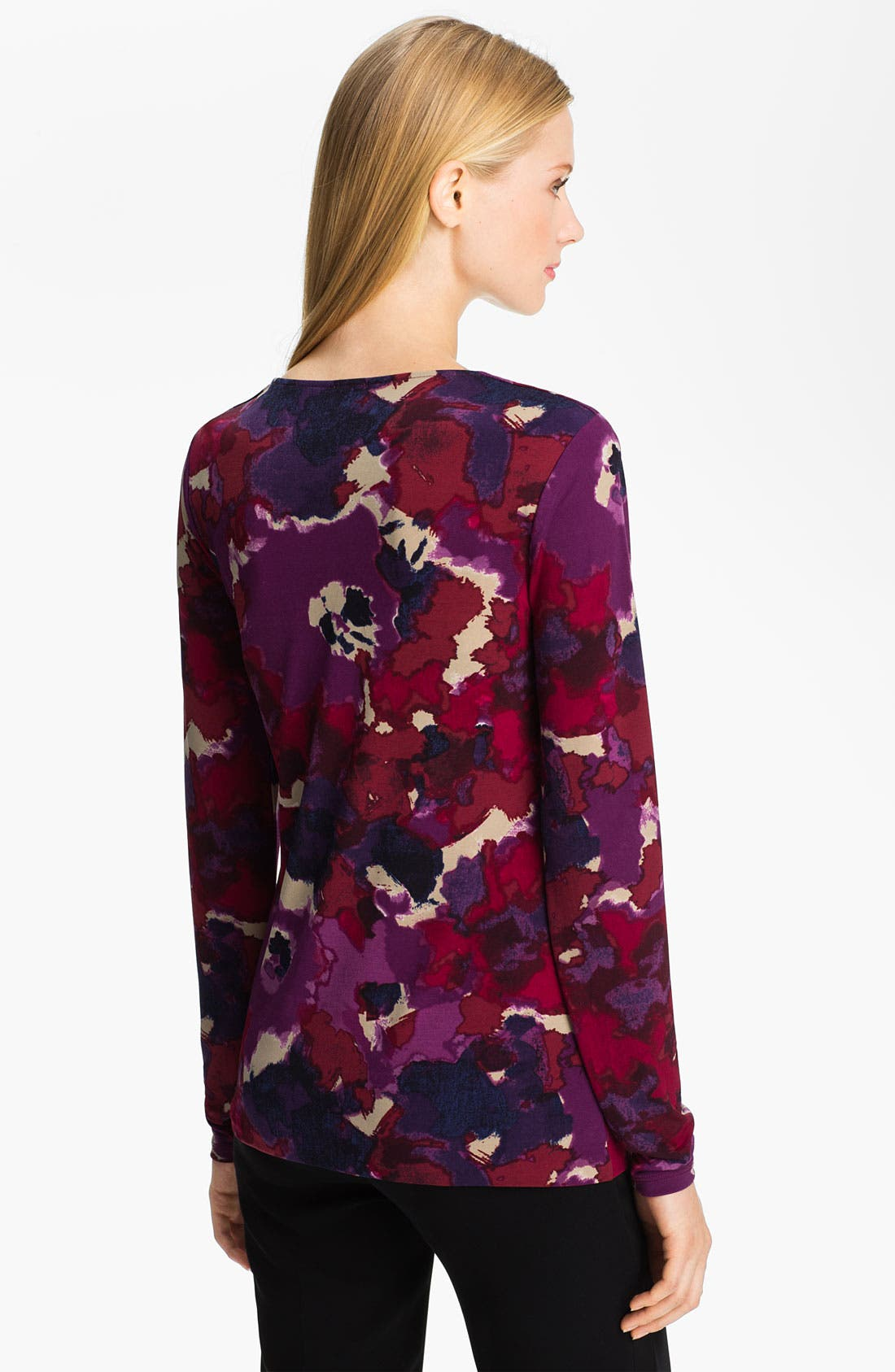 Alternate Image 2  - Anne Klein V-Neck Floral Print Top (Petite)