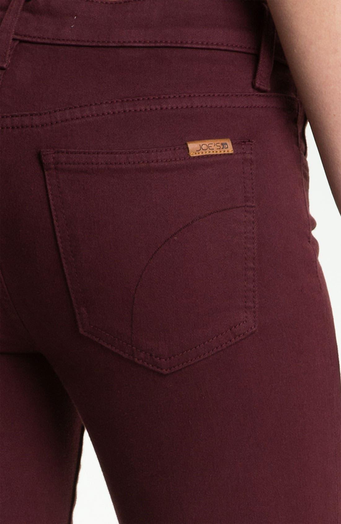 Alternate Image 3  - Joe's Skinny Stretch Jeans (Bordeaux)