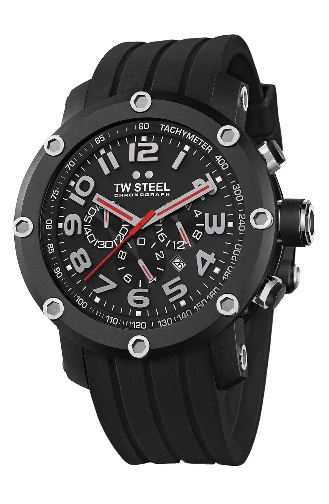 Alternate Image 1 Selected - TW Steel Chronograph Rubber Strap Watch