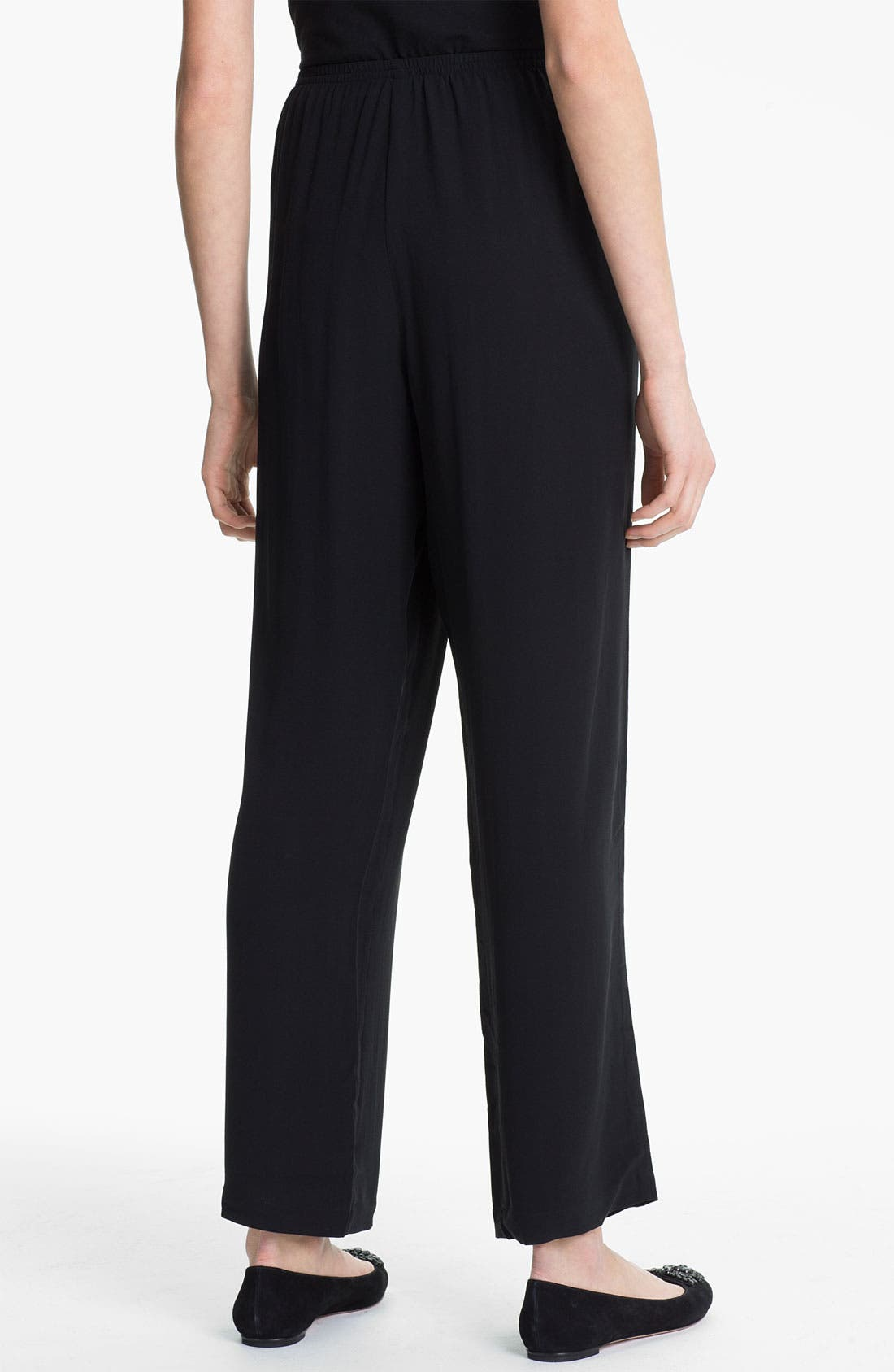Alternate Image 2  - Eileen Fisher Straight Leg Silk Pants (Online Exclusive)