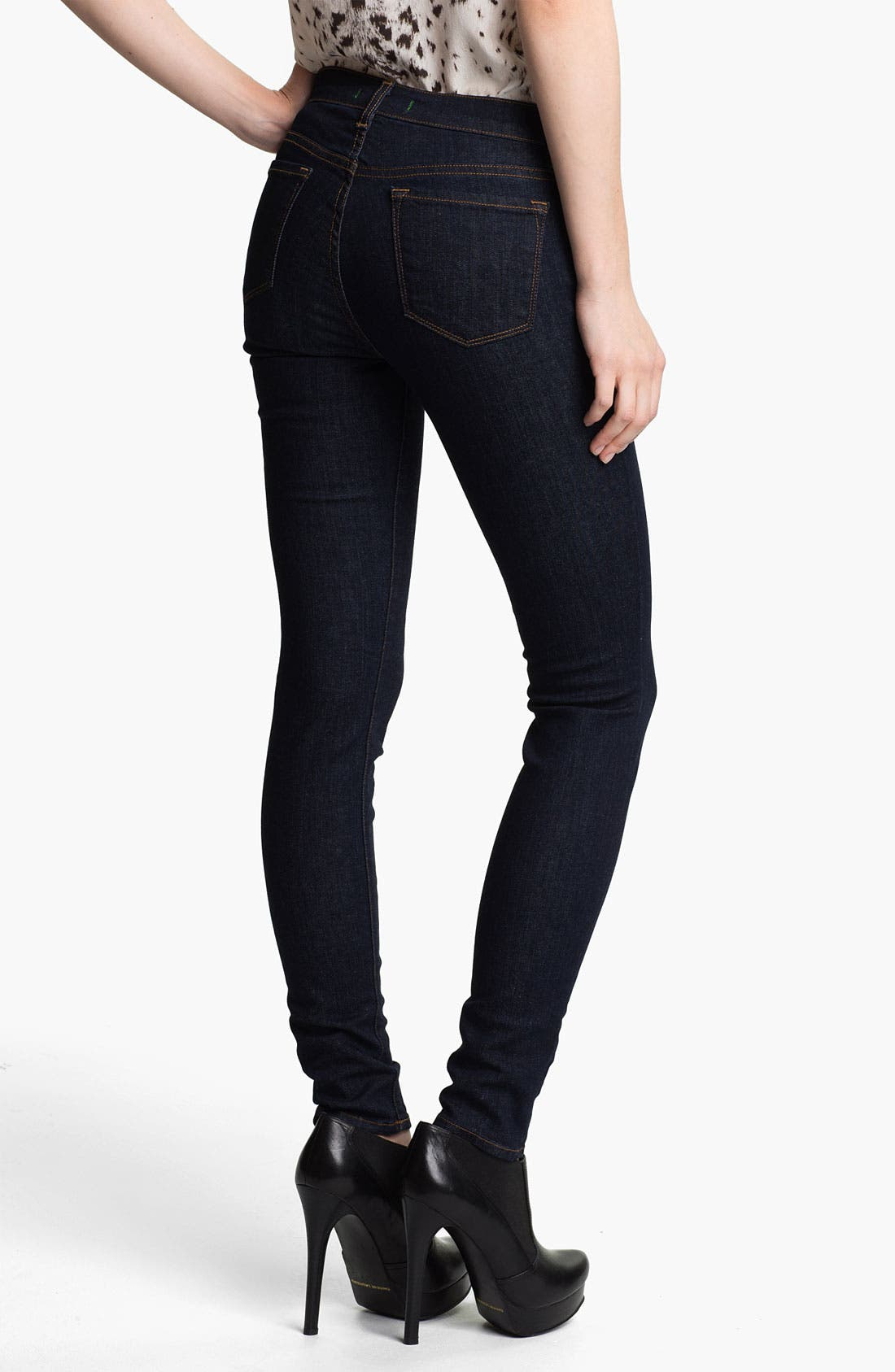 Alternate Image 2  - J Brand '811' Mid-Rise Skinny Jeans (Pure)