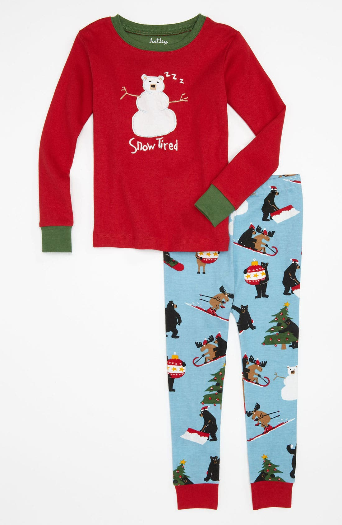 Alternate Image 1 Selected - Hatley Two Piece Fitted Pajama Set (Toddler)