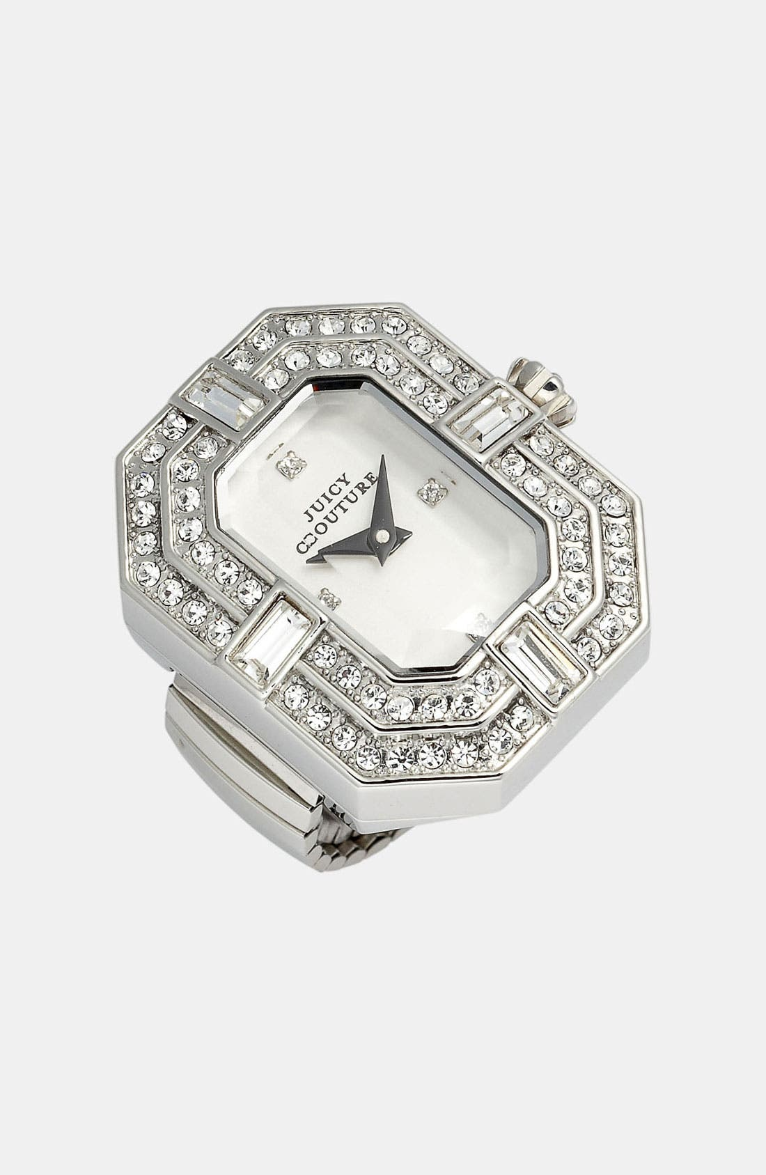 Alternate Image 1 Selected - Juicy Couture 'Marianne' Watch Dial Cocktail Ring, 26mm x 21mm