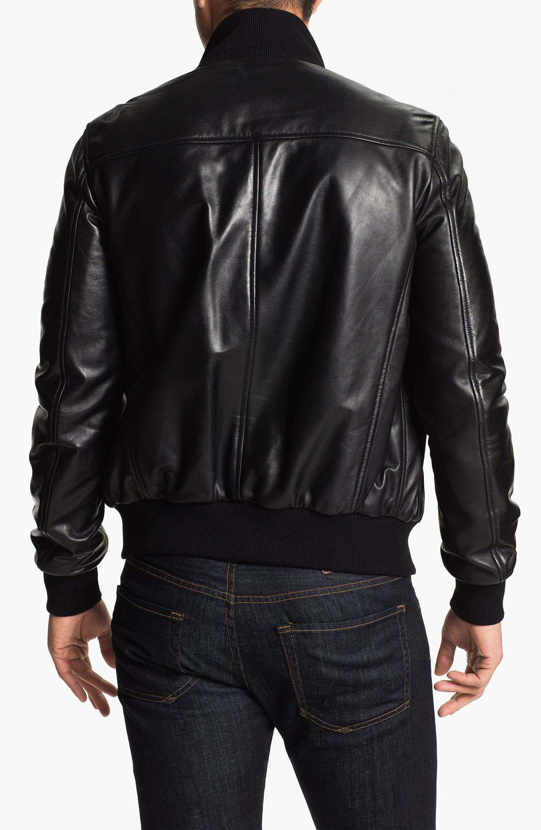 Alternate Image 2  - Alex & Co. Leather Bomber Jacket