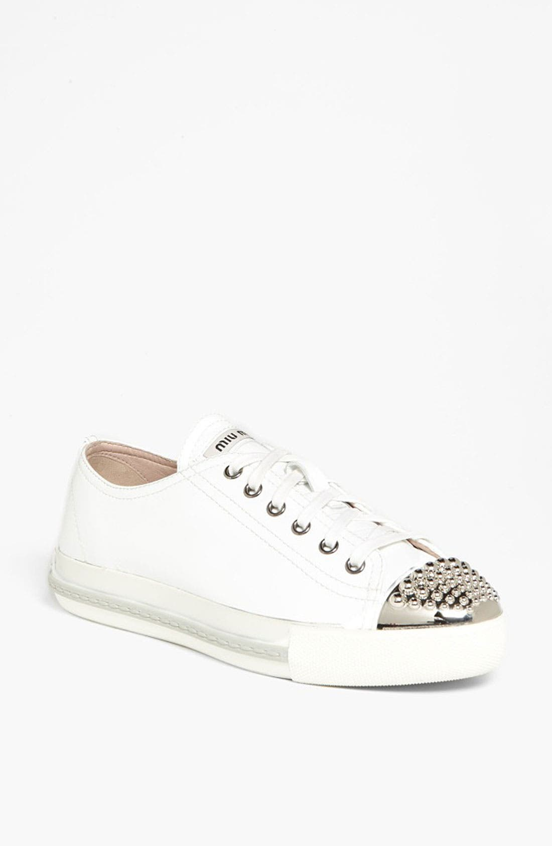 Alternate Image 1 Selected - Miu Miu Patent Cap Toe Sneaker