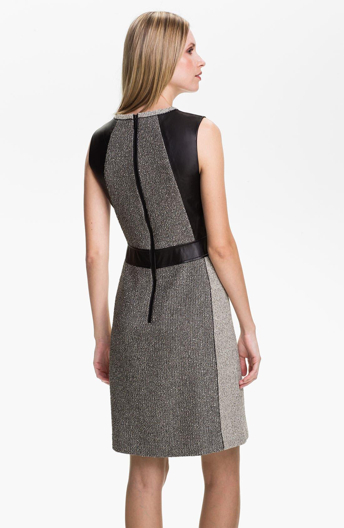 Alternate Image 2  - Lafayette 148 New York 'Seema' Mix Media Dress