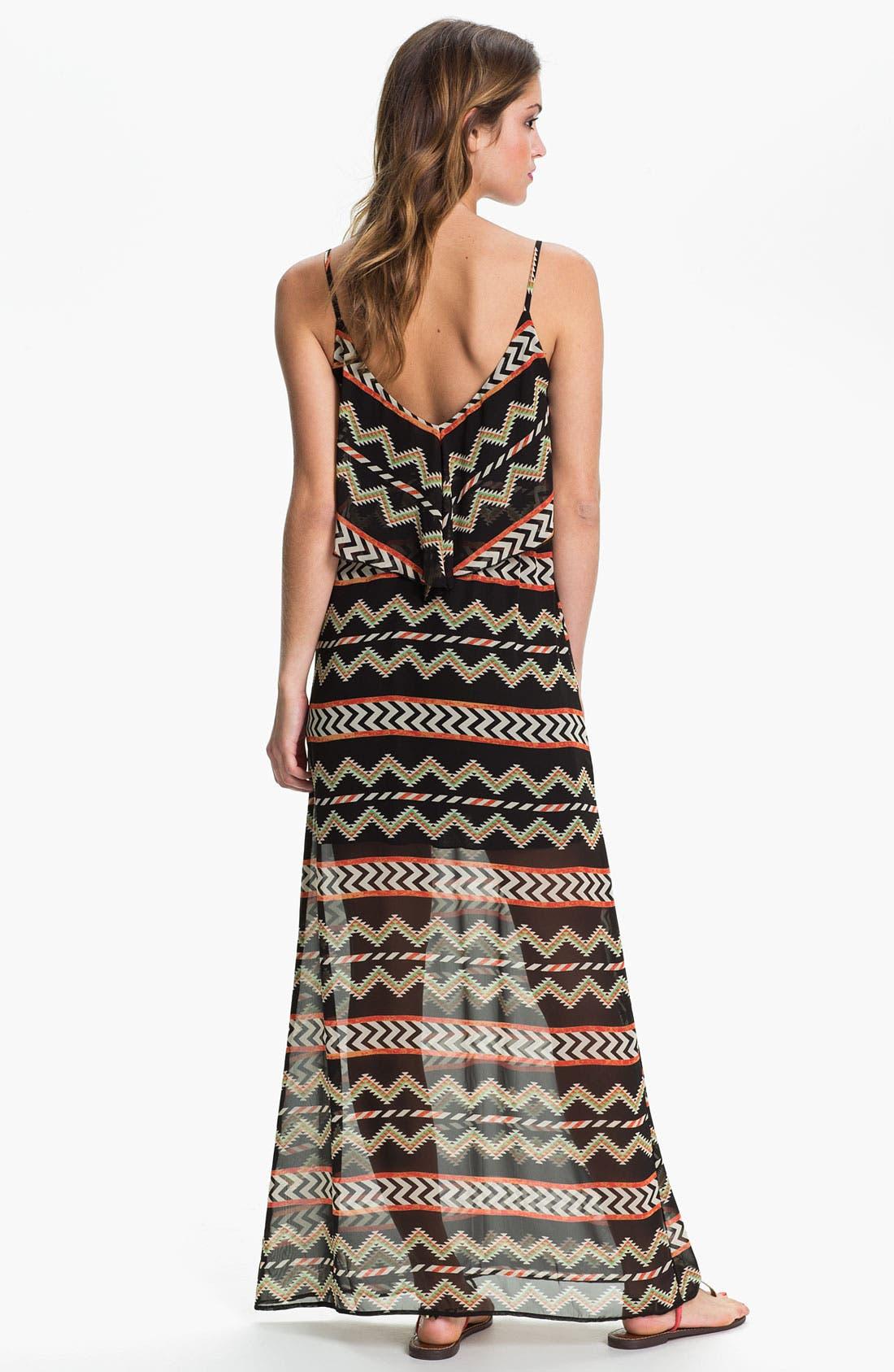 Alternate Image 2  - dee elle Tribal Print Maxi Dress (Juniors)