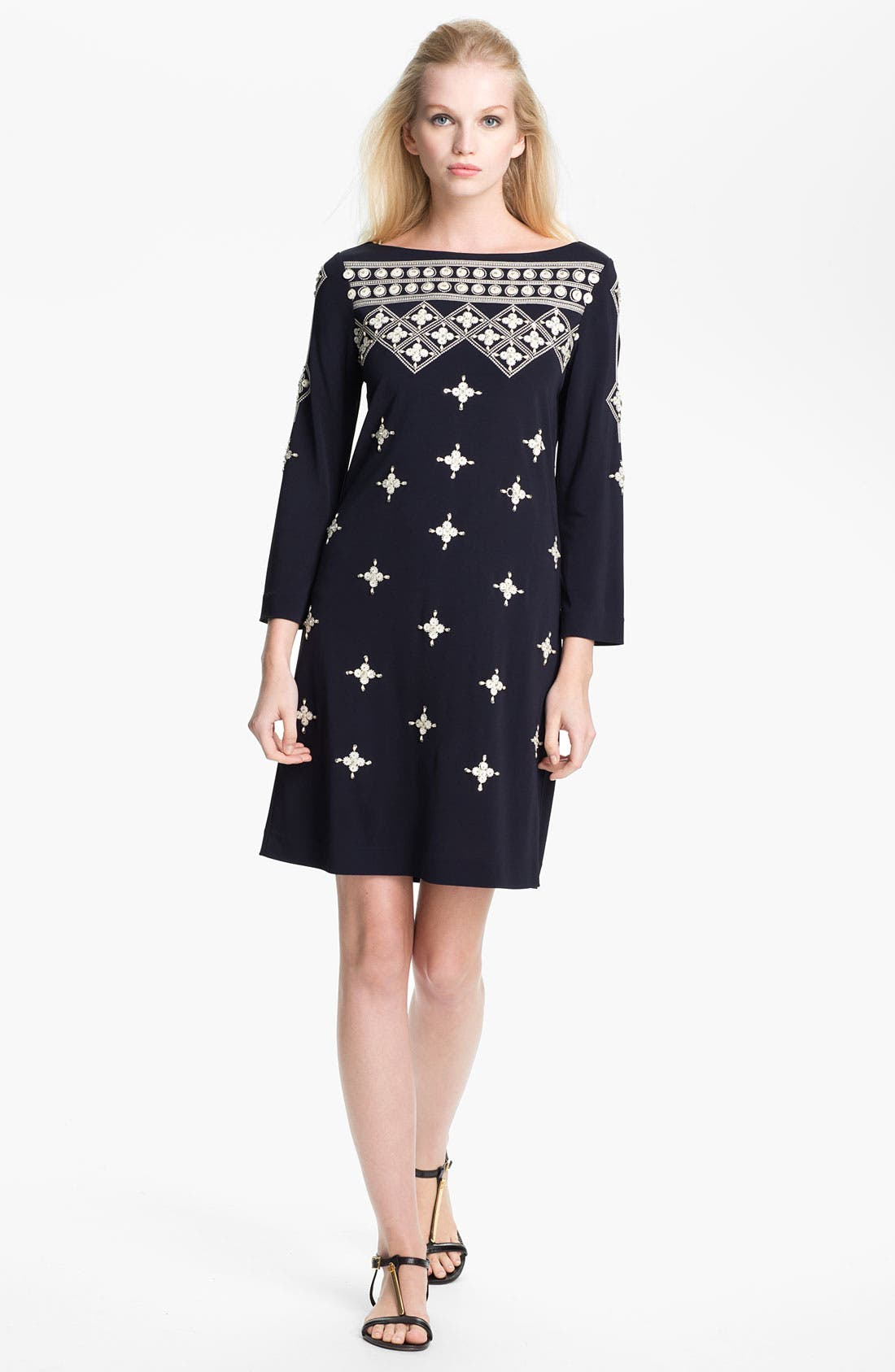 Main Image - Tory Burch 'Carleton' Embellished Shift Dress