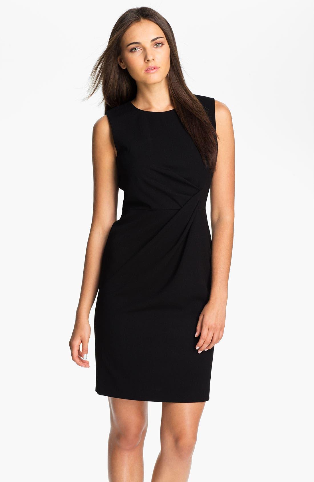 Main Image - Calvin Klein Drape Waist Sheath Dress