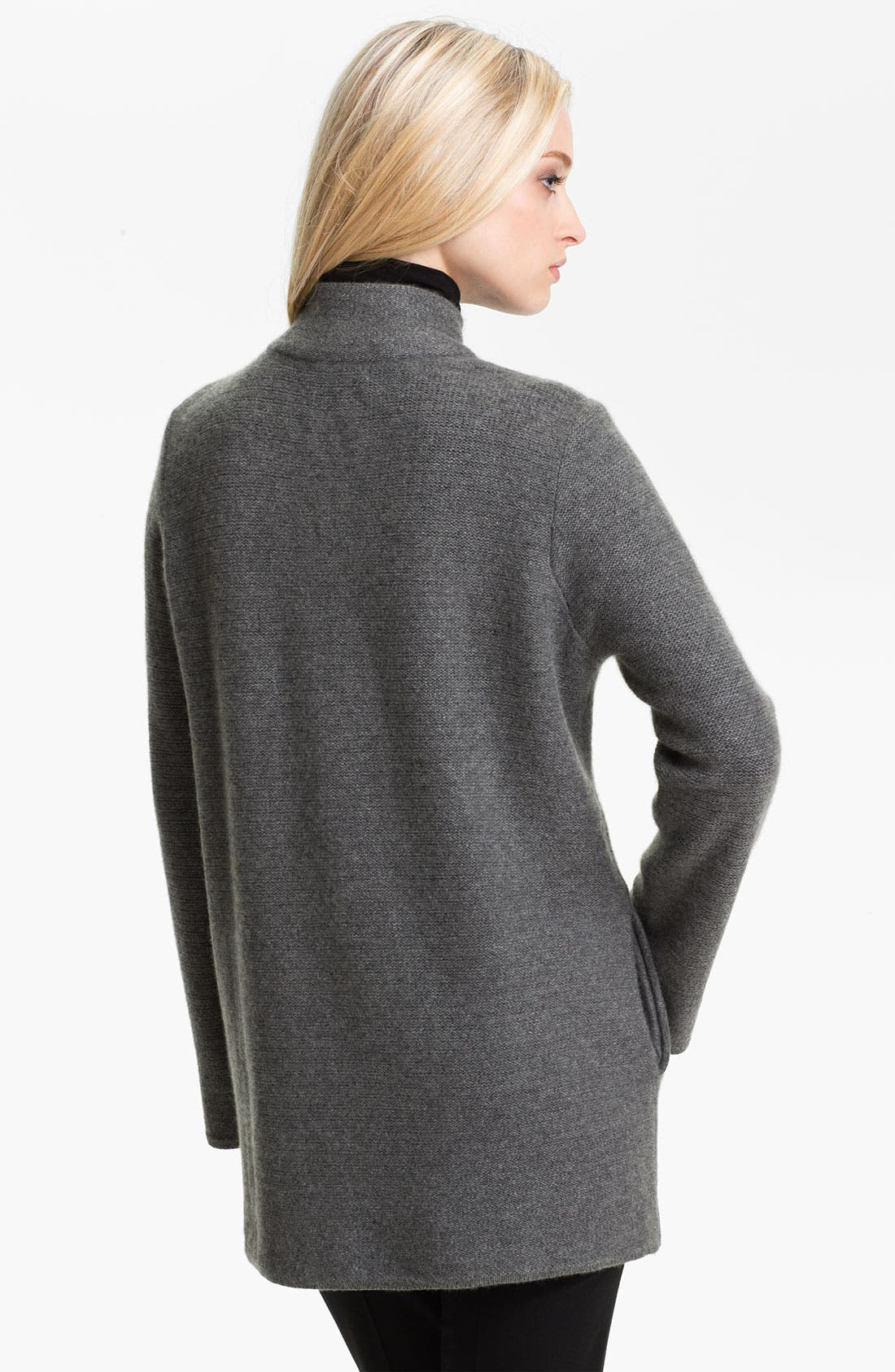 Alternate Image 2  - Nordstrom Collection One Button Cashmere Cardigan
