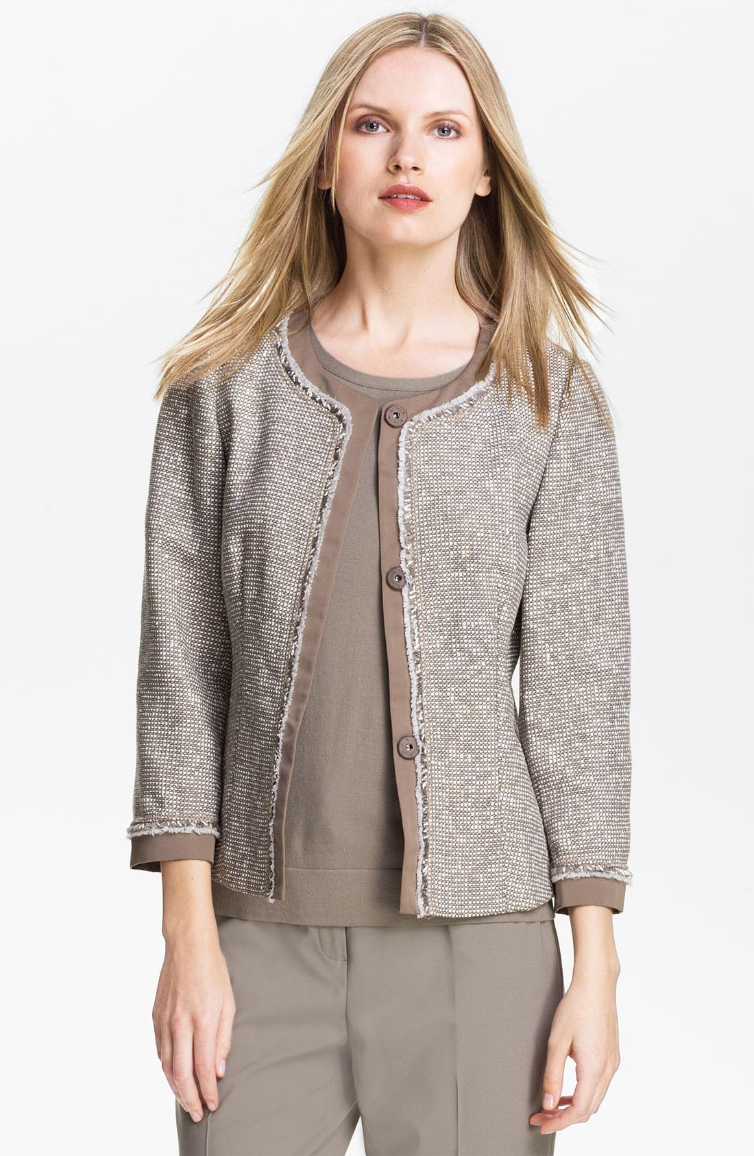 Alternate Image 1 Selected - Lafayette 148 New York 'Antonia' Tweed Jacket