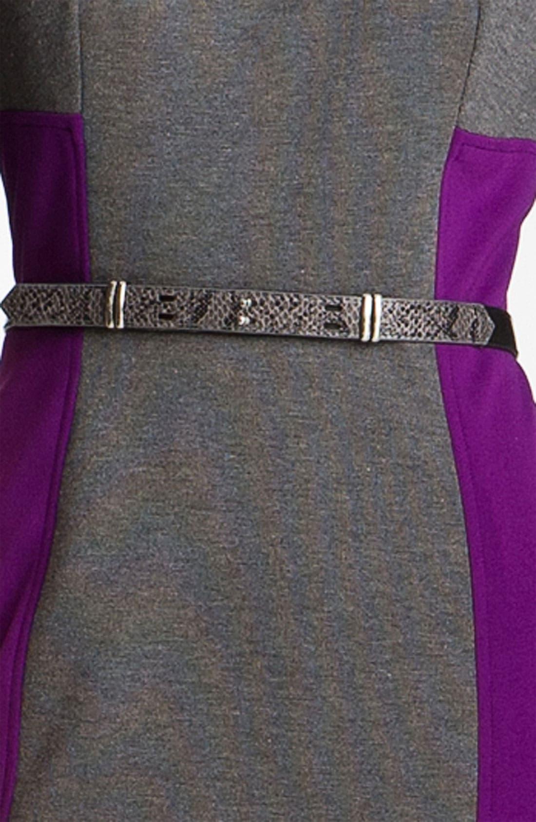 Alternate Image 3  - Maggy London Colorblock Ponte Sheath Dress (Petite)