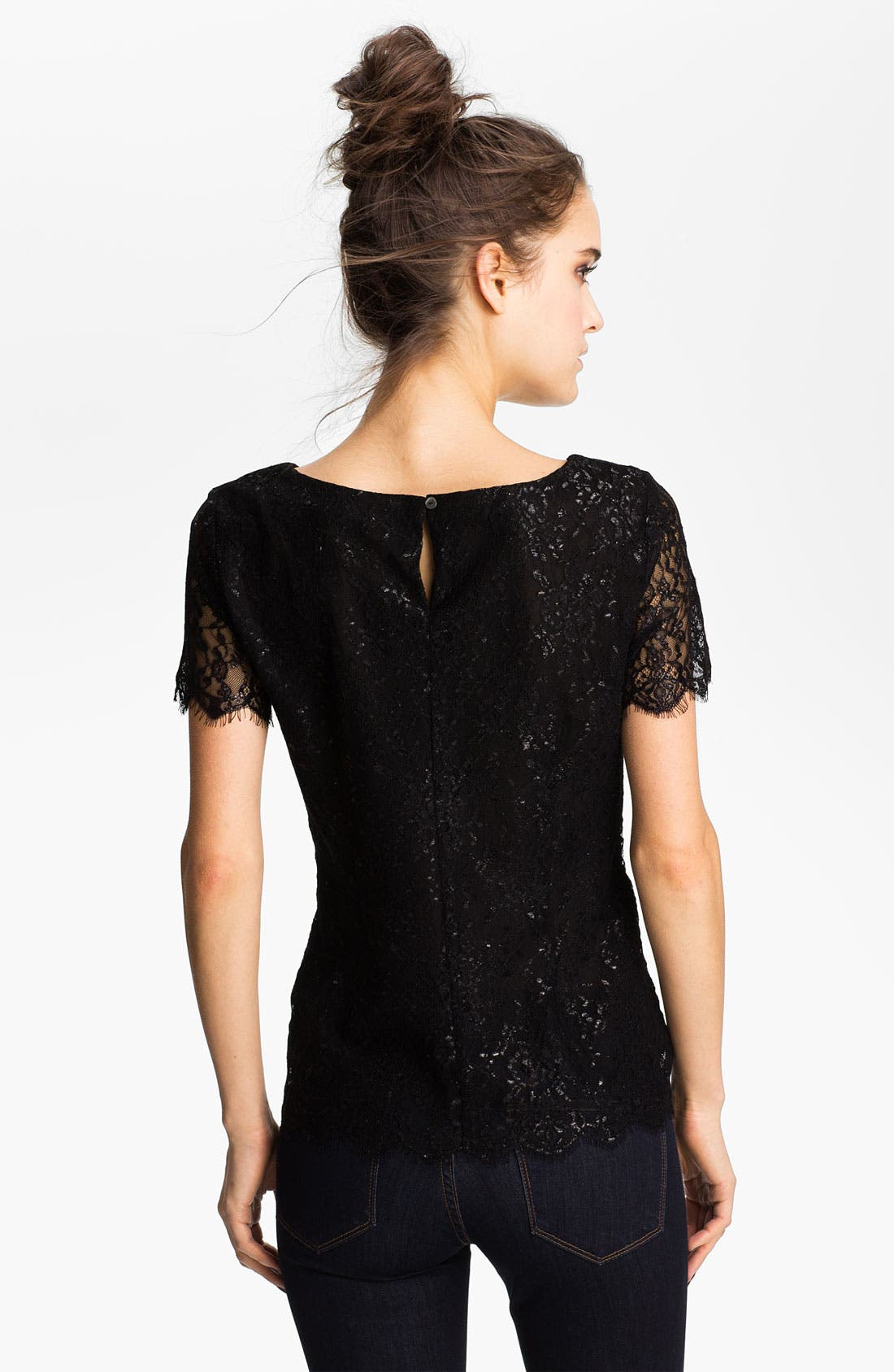 Alternate Image 2  - Velvet by Graham & Spencer Metallic Lace Top