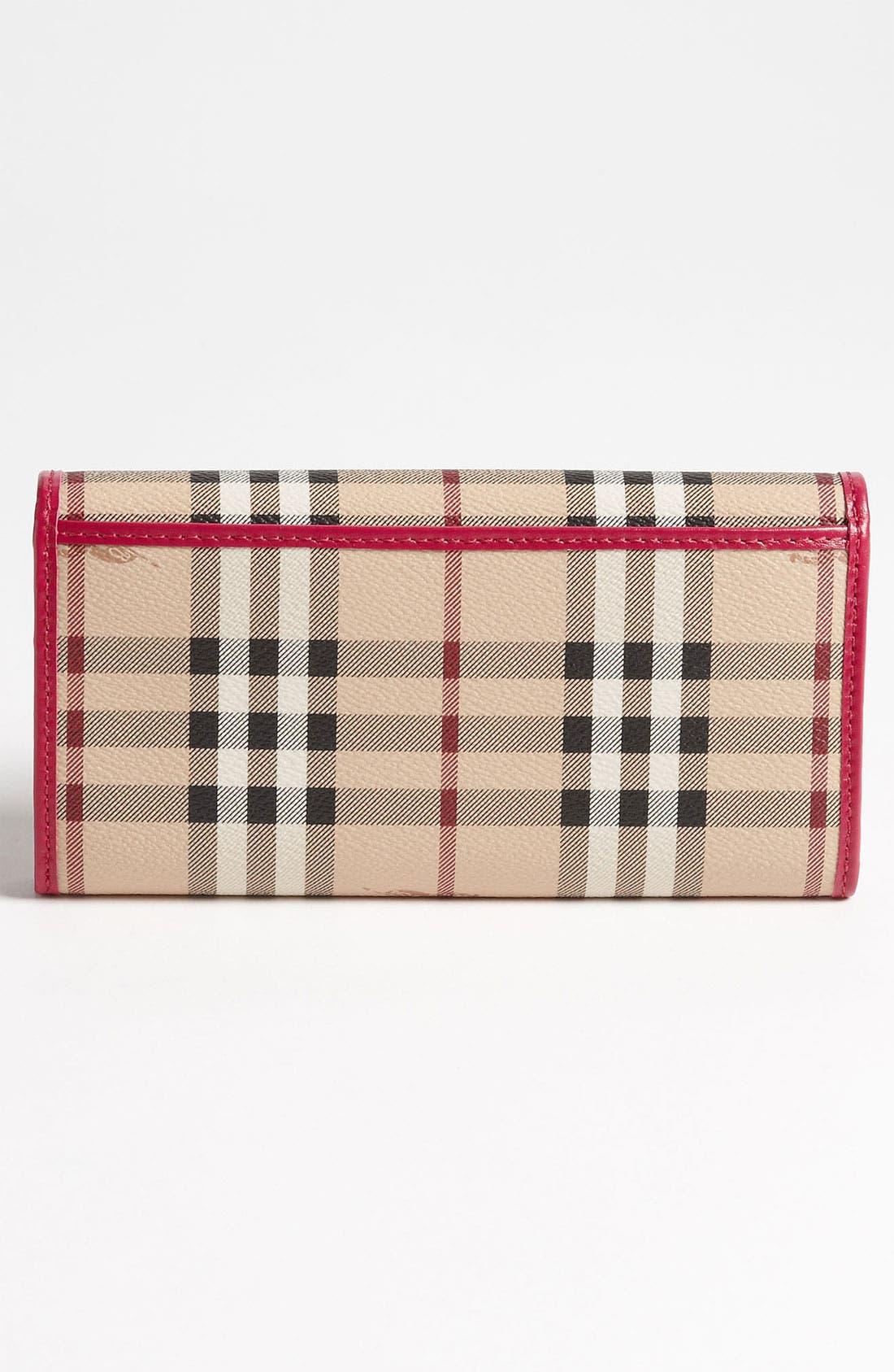 Alternate Image 3  - Burberry 'Haymarket Check' Flap Wallet