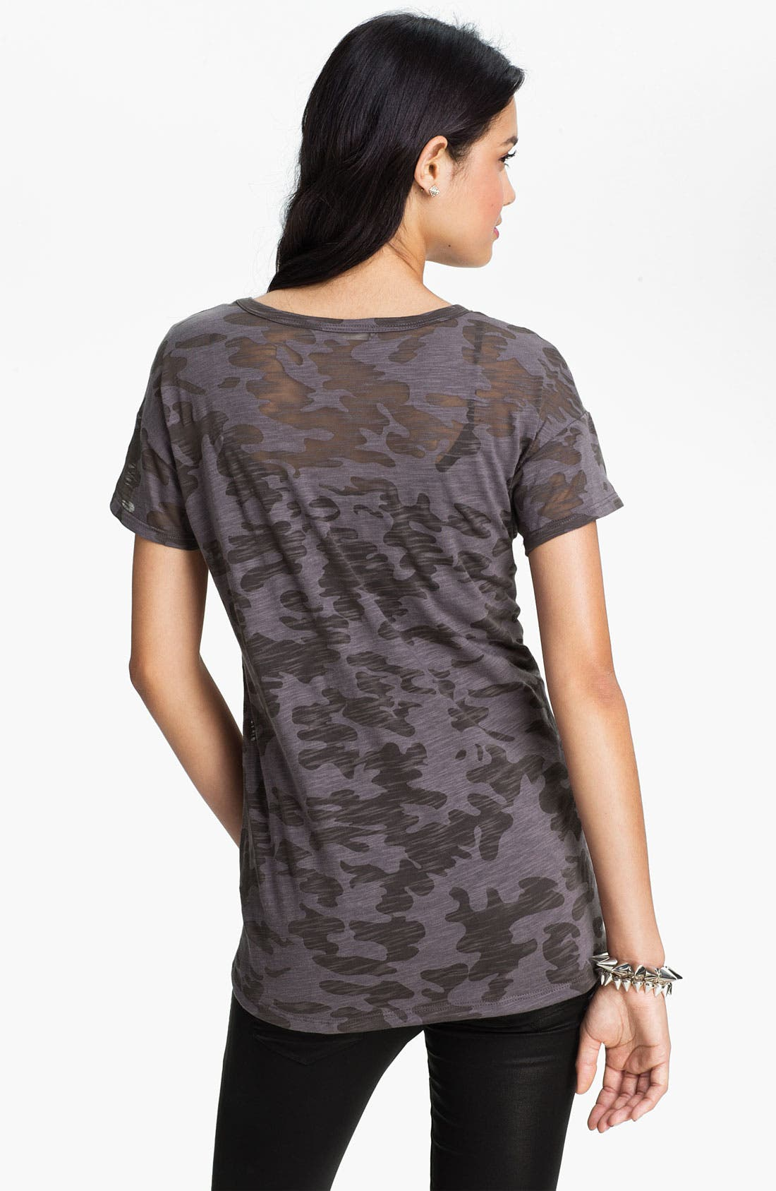 Alternate Image 2  - Lush Clothing Camo Print Boyfriend Tee (Juniors)