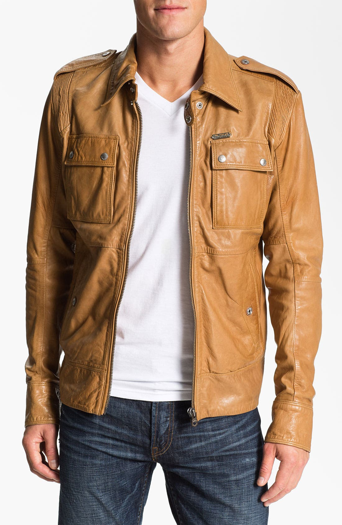 Alternate Image 1 Selected - DIESEL® 'Lisardo' Leather Jacket