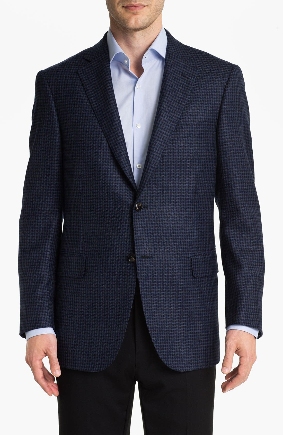 Alternate Image 1 Selected - Pal Zileri Trim Fit Houndstooth Sportcoat