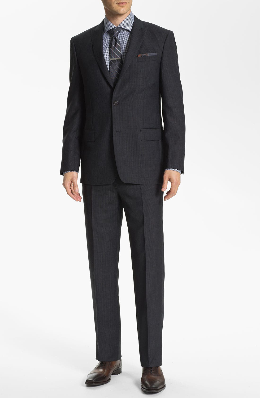 Alternate Image 2  - John Varvatos Star USA 'Bowery' Trim Fit Stripe Suit