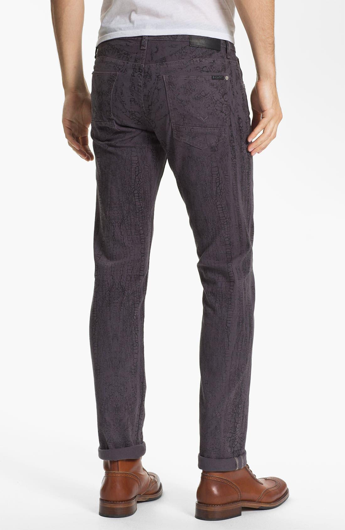 Alternate Image 2  - Hudson Jeans 'Sartor' Slouchy Skinny Leg Jeans (Gone Platinum)