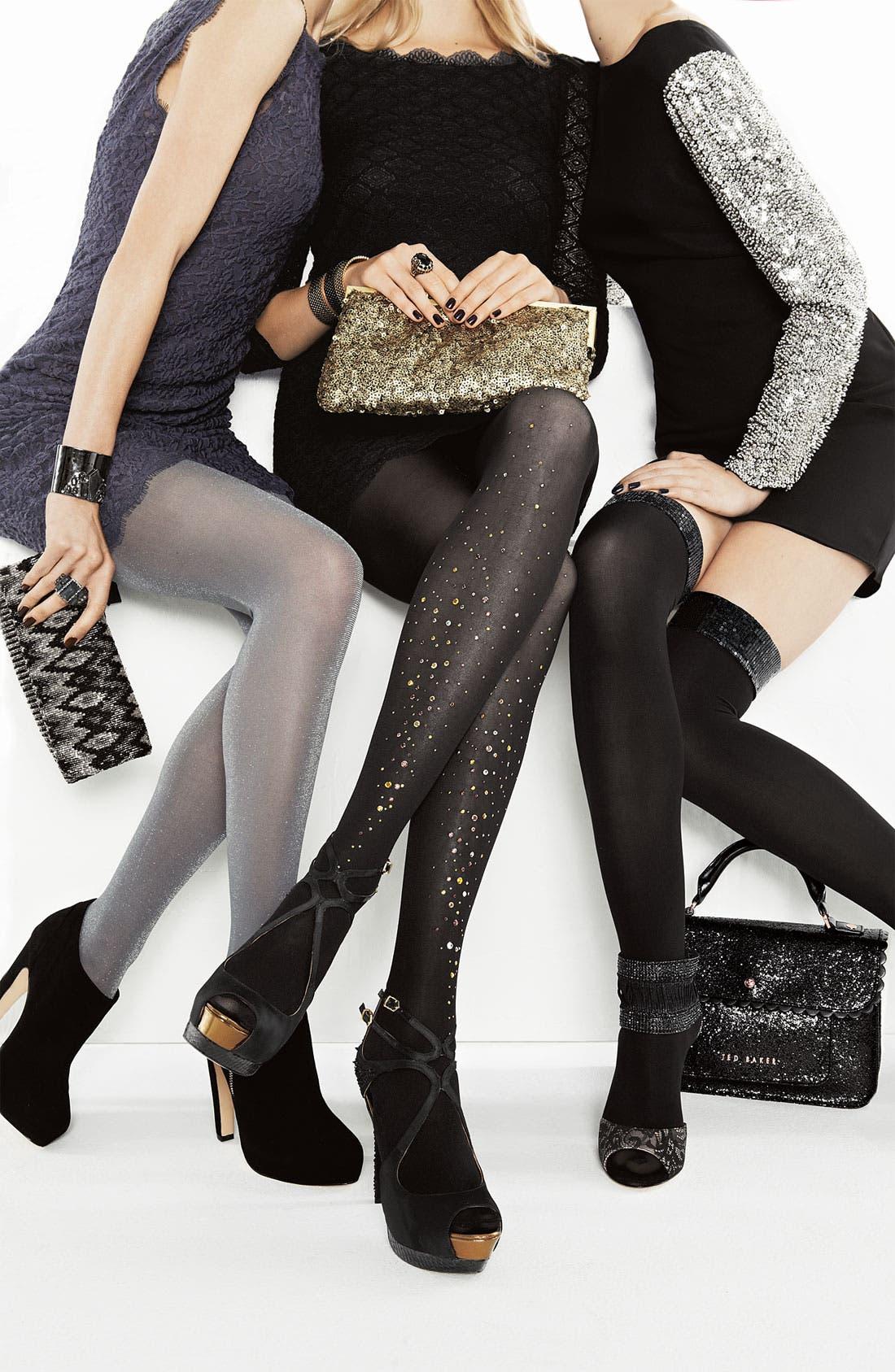 Alternate Image 3  - DKNY Sequined Over the Knee Socks
