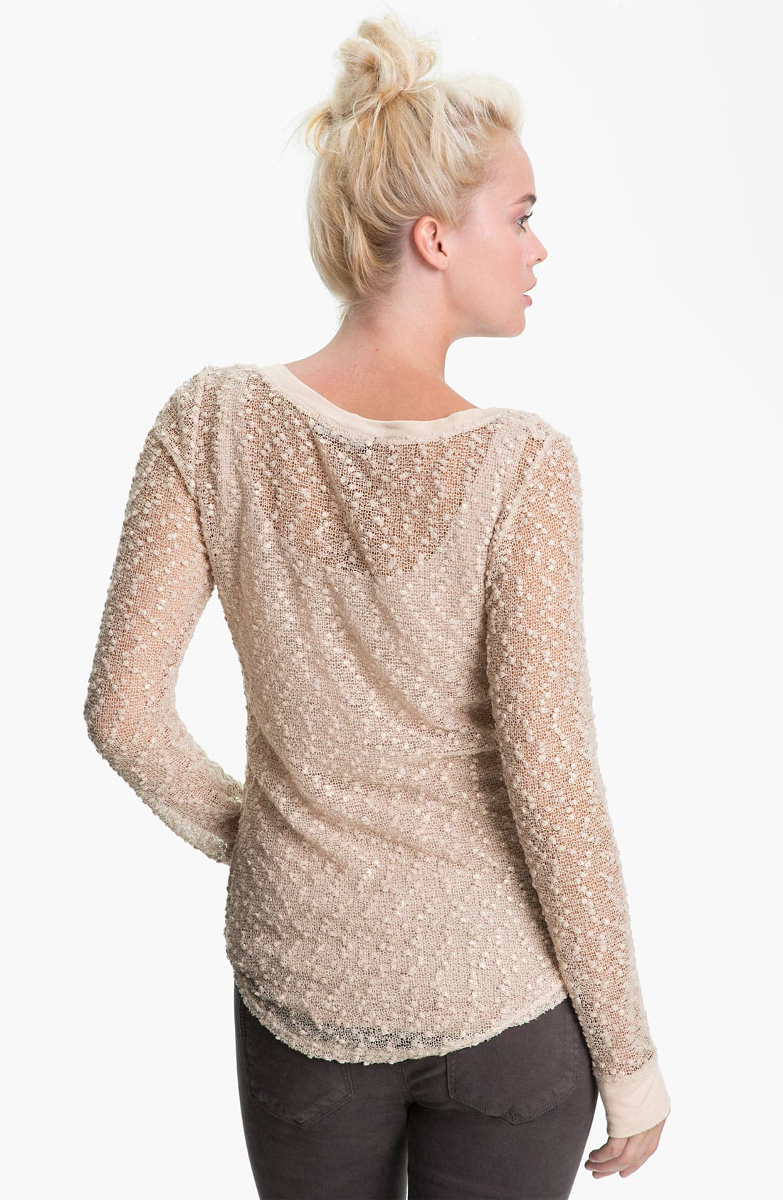 Alternate Image 2  - Sanctuary 'Buddha' Sheer Metallic Bouclé Top