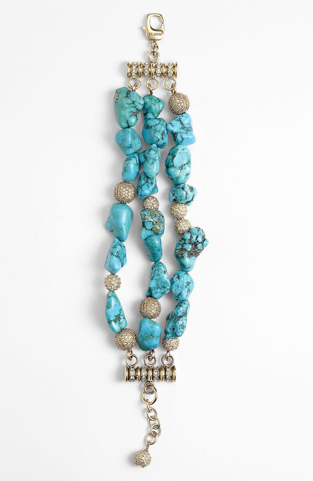 Alternate Image 1 Selected - St. John Collection Triple Strand Beaded Bracelet