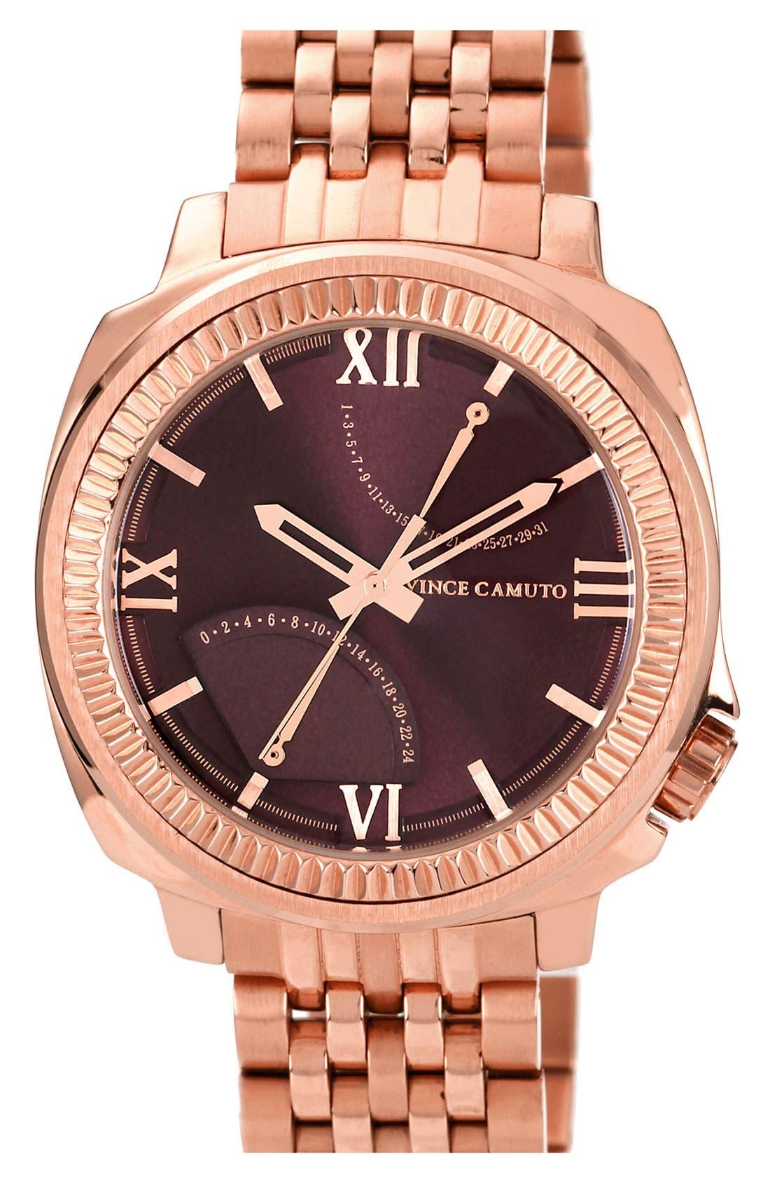 Alternate Image 1 Selected - Vince Camuto Flyback Dial Bracelet Watch, 43mm