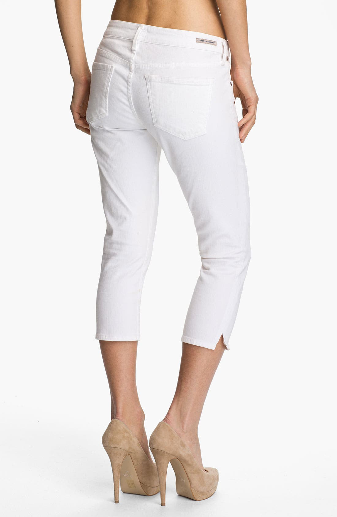 Alternate Image 2  - Citizens of Humanity 'Racer' Crop Skinny Jeans (Santorini)